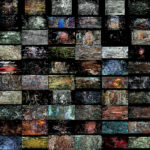 100 Film sequences as collage