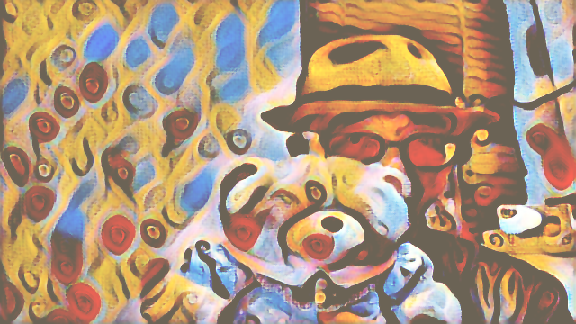 Neural network style transfer in OpenCV with Processing